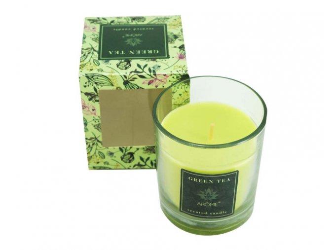 Vonná svíčka, 120g, zelený čaj, II. jakost