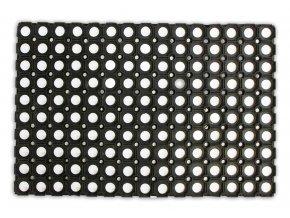 Rohož gumová, děrovaná, černá, 40x60cm