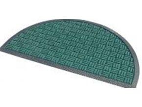 Rohož gumová + PP, půlkruh, zelená, 45x75cm