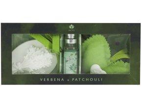 Osvěžovač vzduchu jílový difuzér s polštářkem - Verbena & Patchouli - 10 ml
