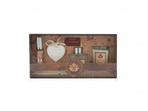Osvěžovač vzduchu, sada 50 ml difuzér, 10 ml jílový difuzér, svíčka - Apple & Cinnamon