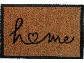 Kokosová rohožka s nápisem Home, 40x60 cm