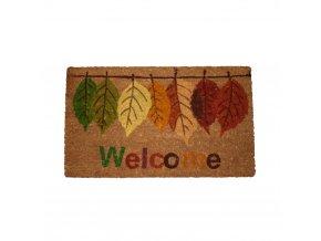 Rohožka, Welcome, podzimní listí, 43x73 cm
