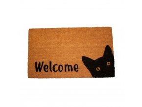 Rohožka, Welcome s kočkou, 43x73 cm