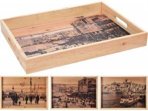 Set dřevěných táců, II. jakost