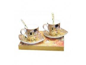 Šapo sada espresso se lžičkami - Klimt, II. jakost