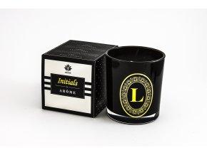 Arôme Svíčka s písmenky Vanilka 200g - L
