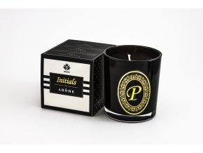 Arôme Svíčka s písmenky Vanilka 200g - P