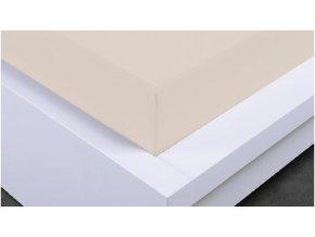 Napínací prostěradlo Jersey 90x200 cm, béžová, bavlna