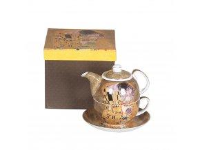 Čajová souprava pro jednoho - Klimt, II. jakost