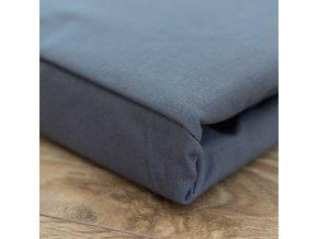 Francouzské bavlněné povlečení, tmavě šedá, 220 x 200 cm + 2 x 70 x 90 cm