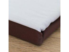 Bavlněné povlečení, čokoládově hnědá + béžová, jednolůžko
