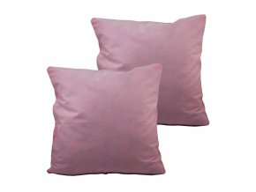 Povlak na polštář, 2 ks, 40x40 cm, růžová