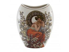 Váza, porcelán, Mucha, II. jakost