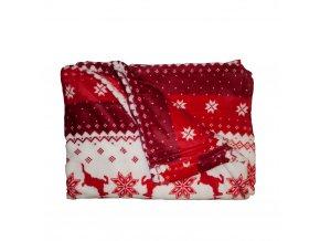 Mikroflanelová deka, 150x200 cm, sobíci