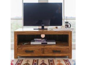 TV stolek Rami 120x50x45 z indického masivu palisandr, barva Světle medová