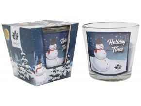 Vonná svíčka 120 g, vánoční balení, Snowman Vanilla