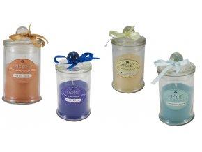Balení 4 ks: Vonné svíčky, 90 g, citrónová tráva, oceán,čaj Rooibos, bílé pižmo