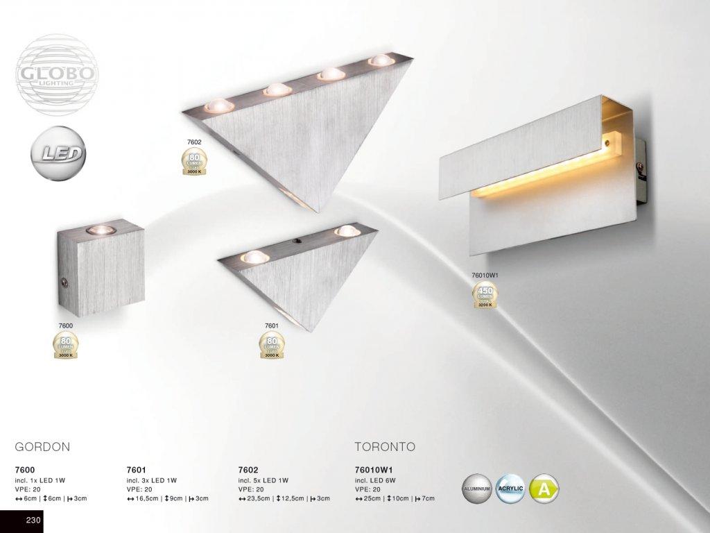 Svítidlo GORDON 7600 GLOBO  * včetně světelného zdroje LED *
