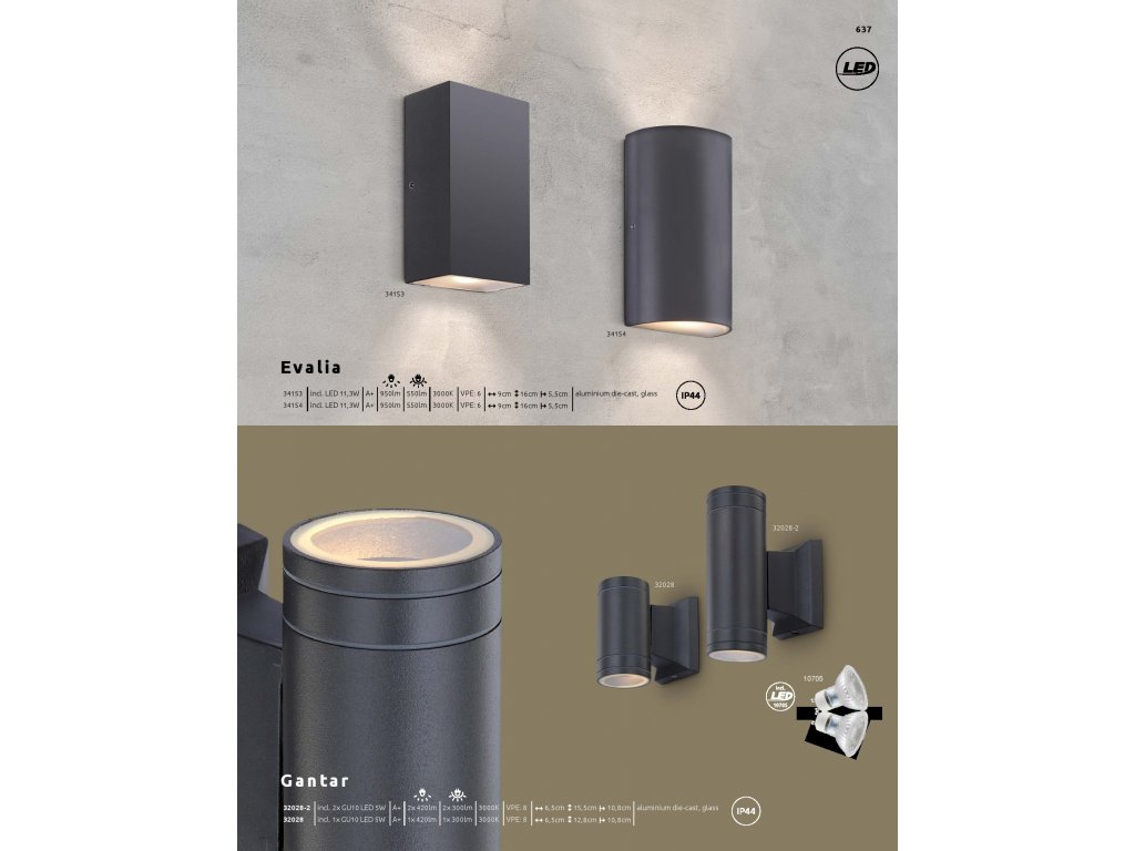 Svítidlo GANTAR 32028 GLOBO  * včetně LED žárovek ZDARMA *