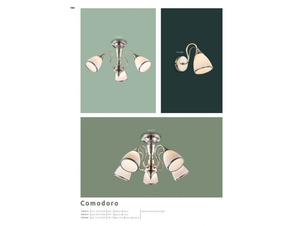 Svítidlo COMODORO 54706-5 GLOBO