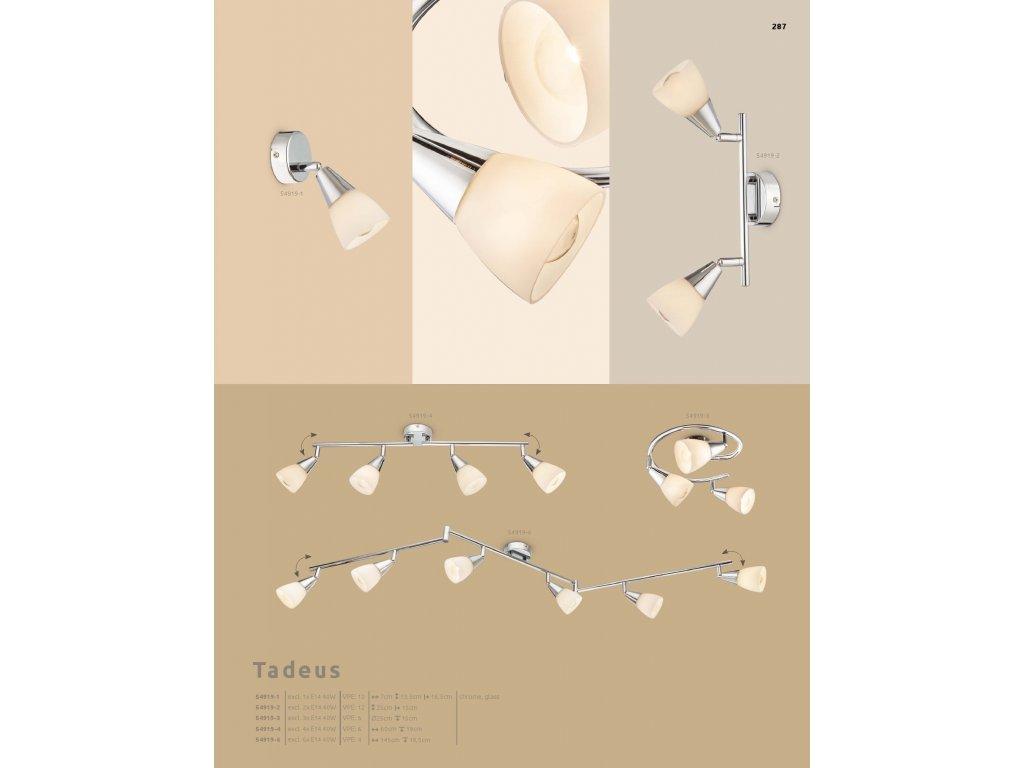 Svítidlo TADEUS 54919-4 GLOBO