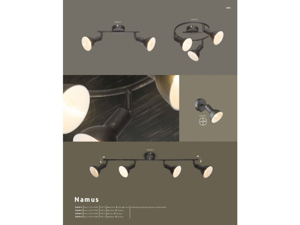 Svítidlo NAMUS 54649-3 GLOBO