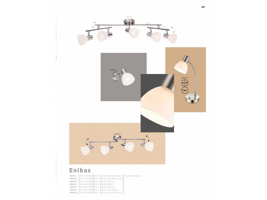 Svítidlo ENIBAS 54918-3 GLOBO