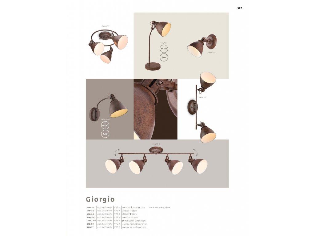 Svítidlo GIORGIO 54647-4 GLOBO