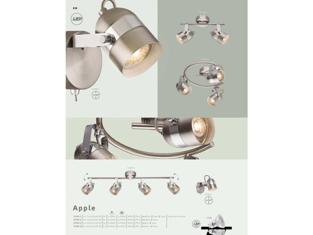 Svítidlo APPLE 57352-2 GLOBO  * včetně LED žárovek ZDARMA *