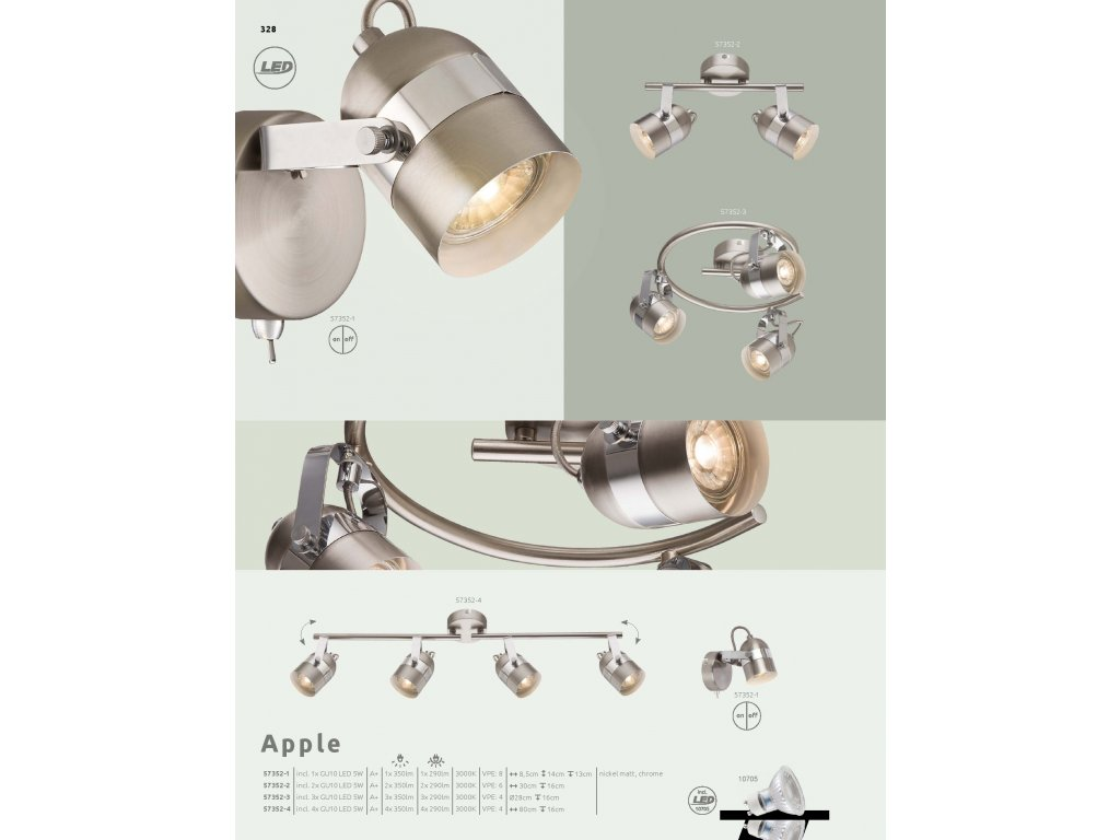 Svítidlo APPLE 57352-1 GLOBO  * včetně LED žárovky ZDARMA *