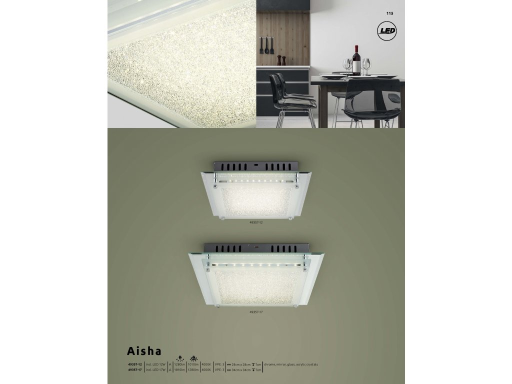 Svítidlo AISHA 49357-12 GLOBO  * včetně světelného zdroje LED *