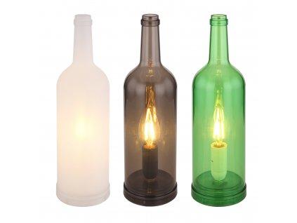 Lampička LEVITO 28048-12 GLOBO skleněná lahev  * světelný zdroj LED *