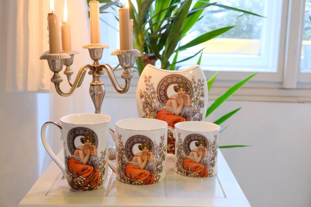 Alfons Mucha na porceláne: Čím všetkým si môžete oživiť domácnosť?