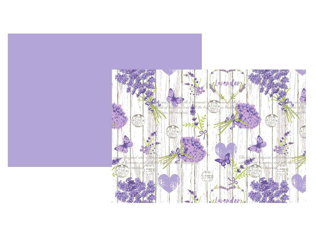 Prestieranie bavlna levanduľa 2018 fialová 33 x 45 cm