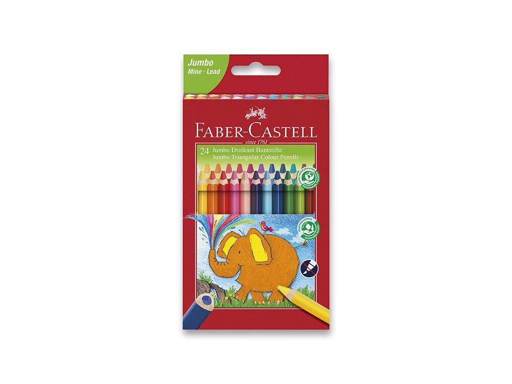 Pastelky Faber-Castell Extra Jumbo 24 farieb + orezávatko