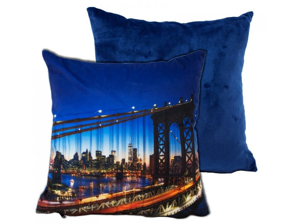 Obliečka na vankúš mikroplyš - Manhattan