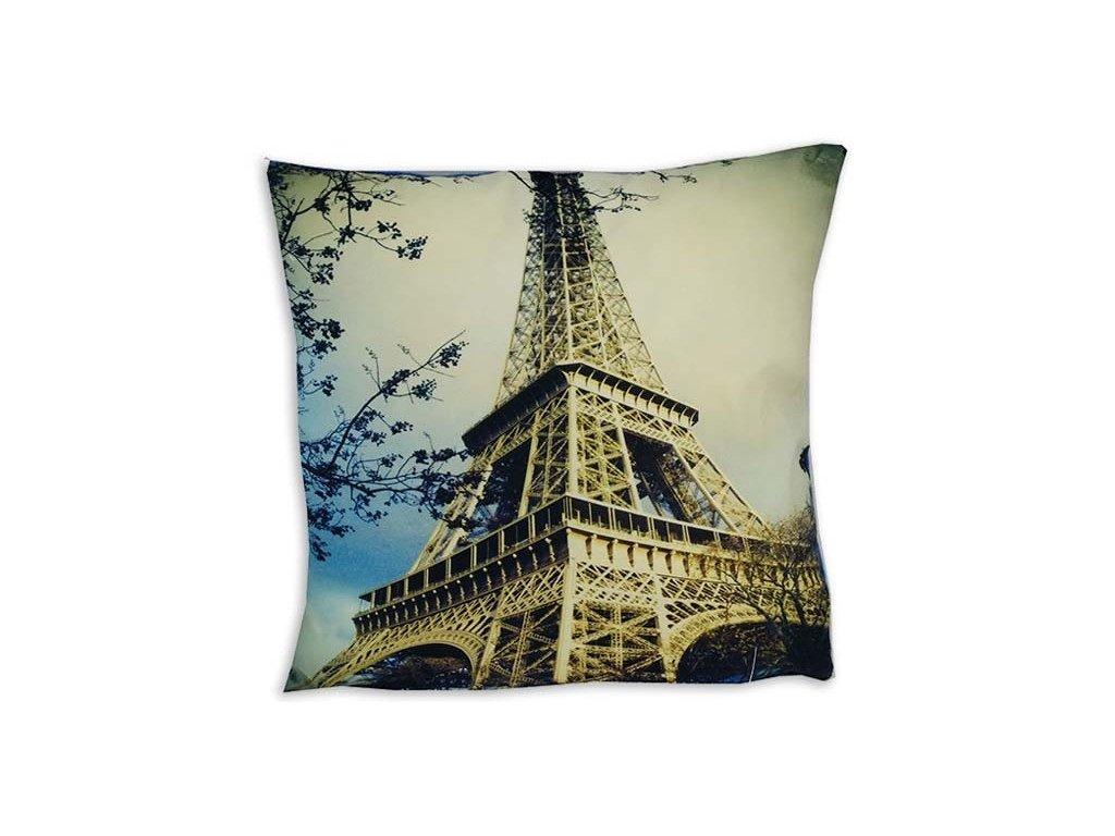 Obliečka na vankúš mikroplyš - Eiffelova veža