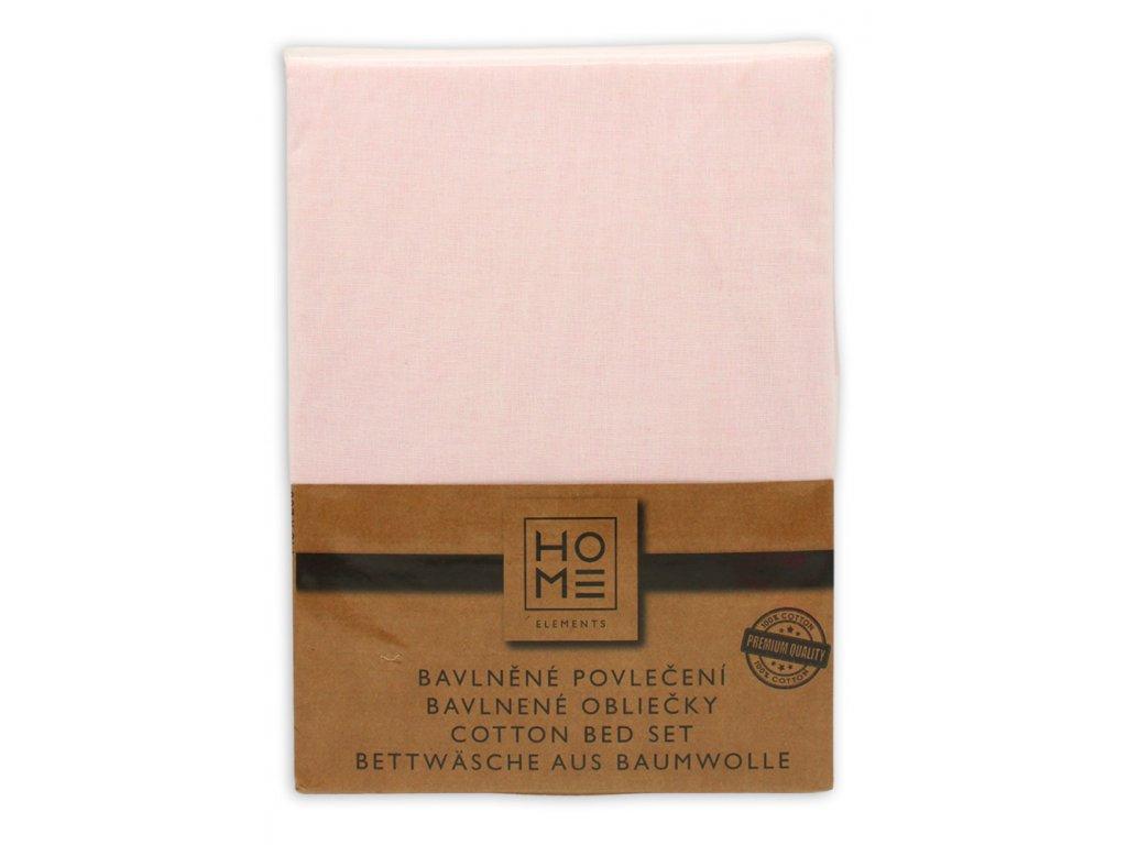 bavlna obliečky, biela + ružová, jednolôžko