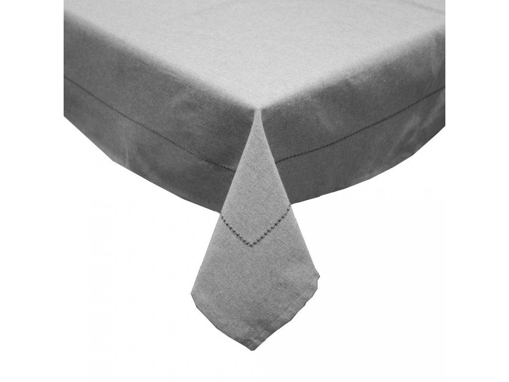 Obrus z recyklovanej bavlny, 90 x 90 cm, šedá