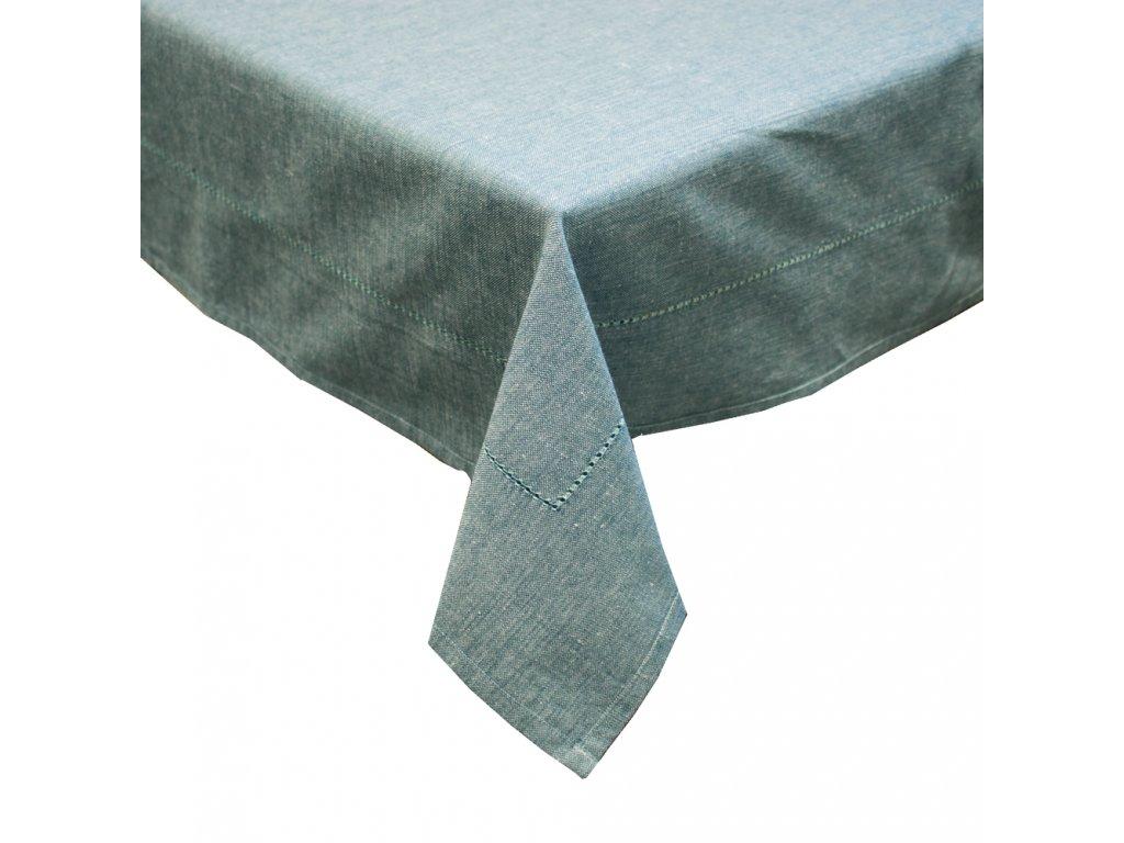 Obrus z recyklovanej bavlny, 90 x 90 cm, modrá