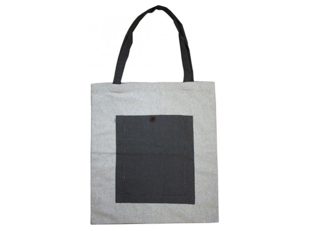 Nákupná taška z recyklovanej bavlny, 40 x 45 cm, šedá