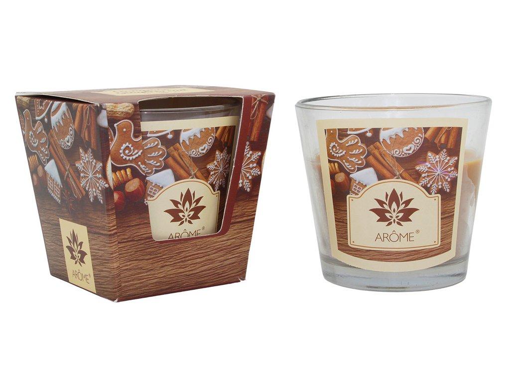 Vonná sviečka 120 g, vianočné balenie, škorica a medovníčky