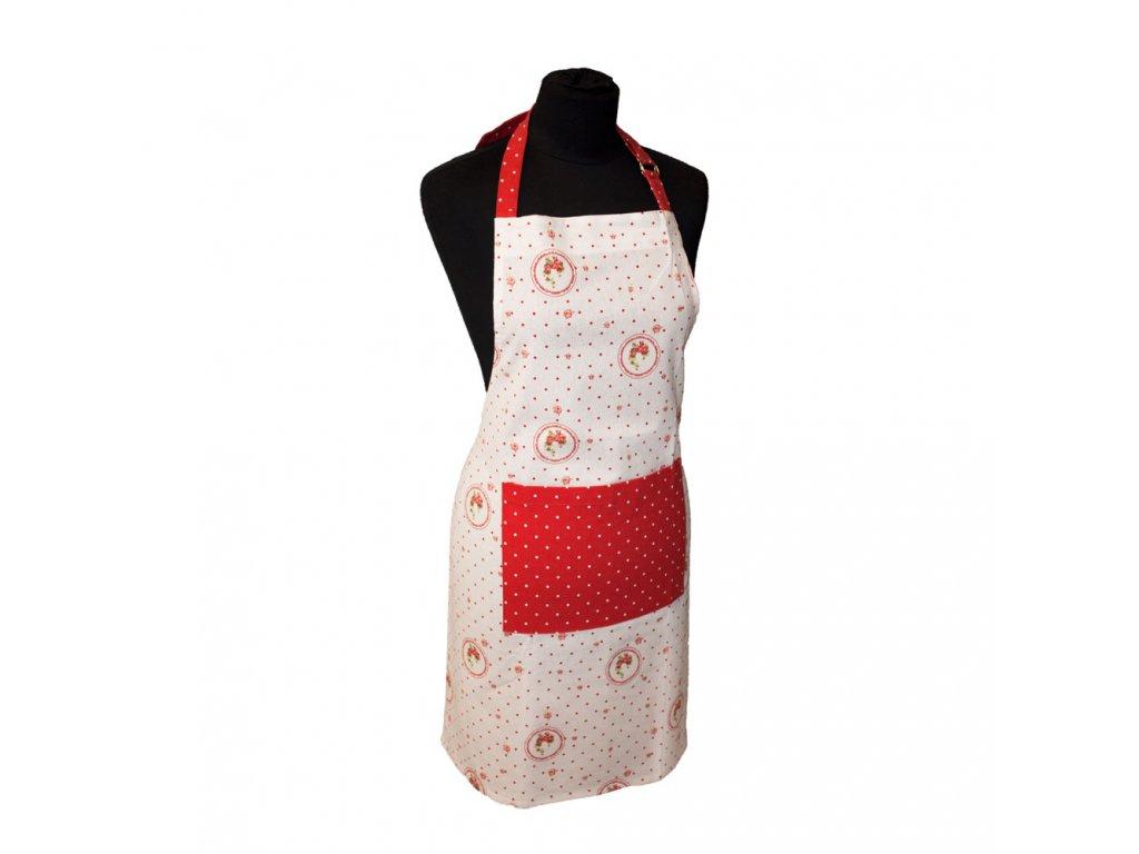 Kuchyňská zástera 60*80 cm, Elegant červené