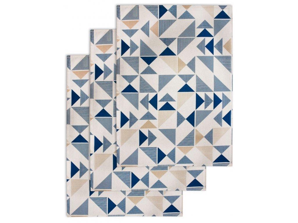 Utierka, 3 ks, Geometrický vzor