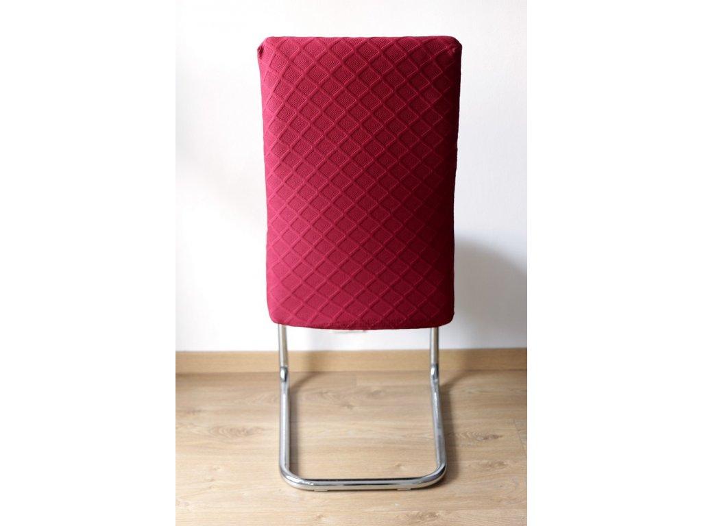Poťah na stoličku, červený