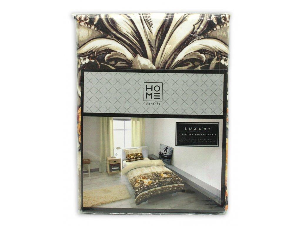 Luxusné bavlna saténové obliečky ROSETTE CARAFE