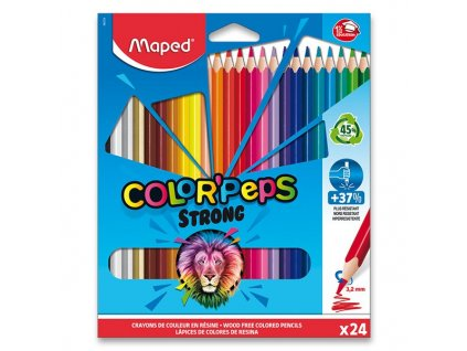 Pastelky Maped Color'Peps Strong 24 farieb