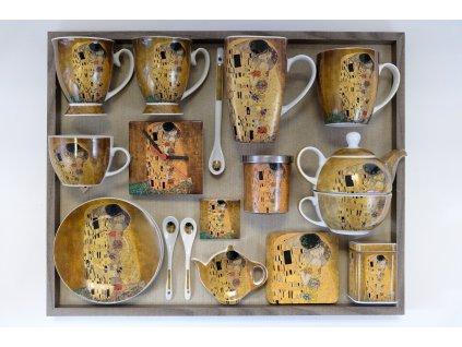 Magnetky na chladničku štvorec Klimt  6 cm