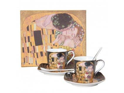 Espresso set – šálky s podšálkami a lyžičkami- Klimt